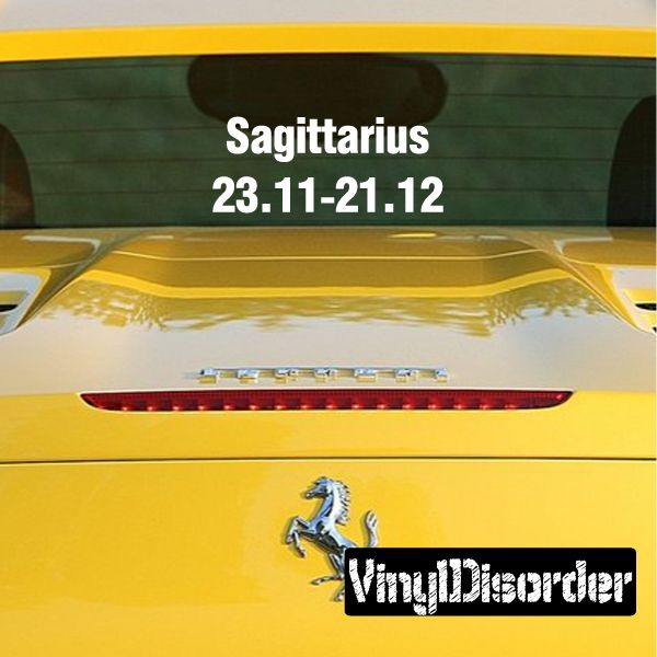 Sagittarius wall decal vinyl decal car decal zodiac al001