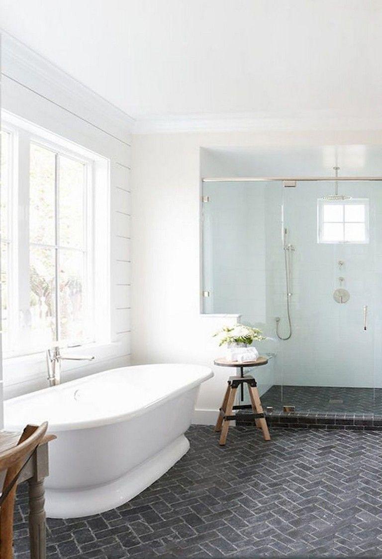 104+ GORGEOUS FARMHOUSE BATHROOM TILE SHOWER DECOR IDEAS AND REMODEL TO INSPIRING YOUR BATHROOM #bathroomtileshowers