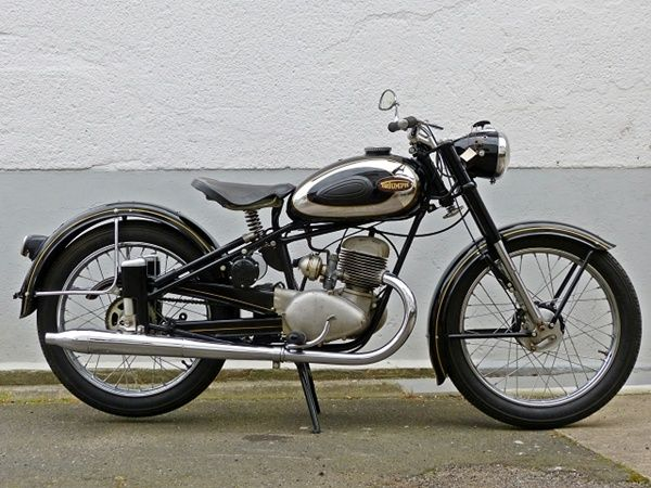 triumph bdg 125 baujahr 1954 all this came after the dkw rt 125. Black Bedroom Furniture Sets. Home Design Ideas