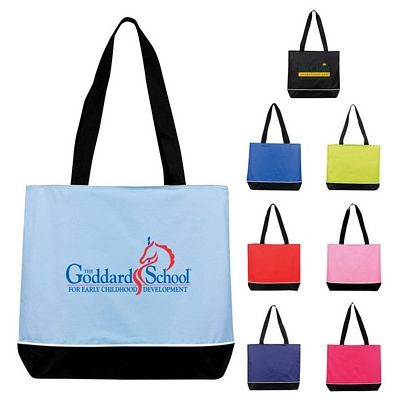 Promotional Large Zippered Promo Tote Bag Customized Large Zippered Promo Tote Bag Promotional Polyester Tote Bags Tote Bag Bags Promotional Bags