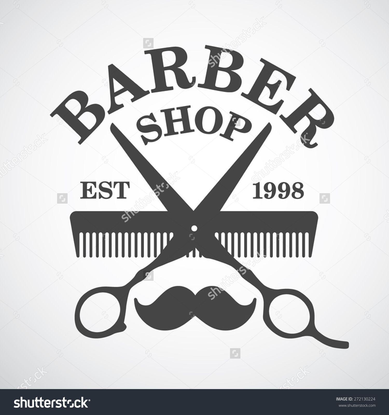 Clip art vector of vintage barber shop logo graphics and icon vector - Vintage Barber Shop Logo Template Design Elements Buy This Stock Vector On Shutterstock Find Other Images