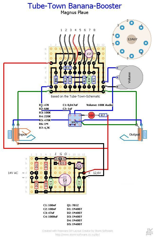 A large online repository or library of guitar pedal schematics ...