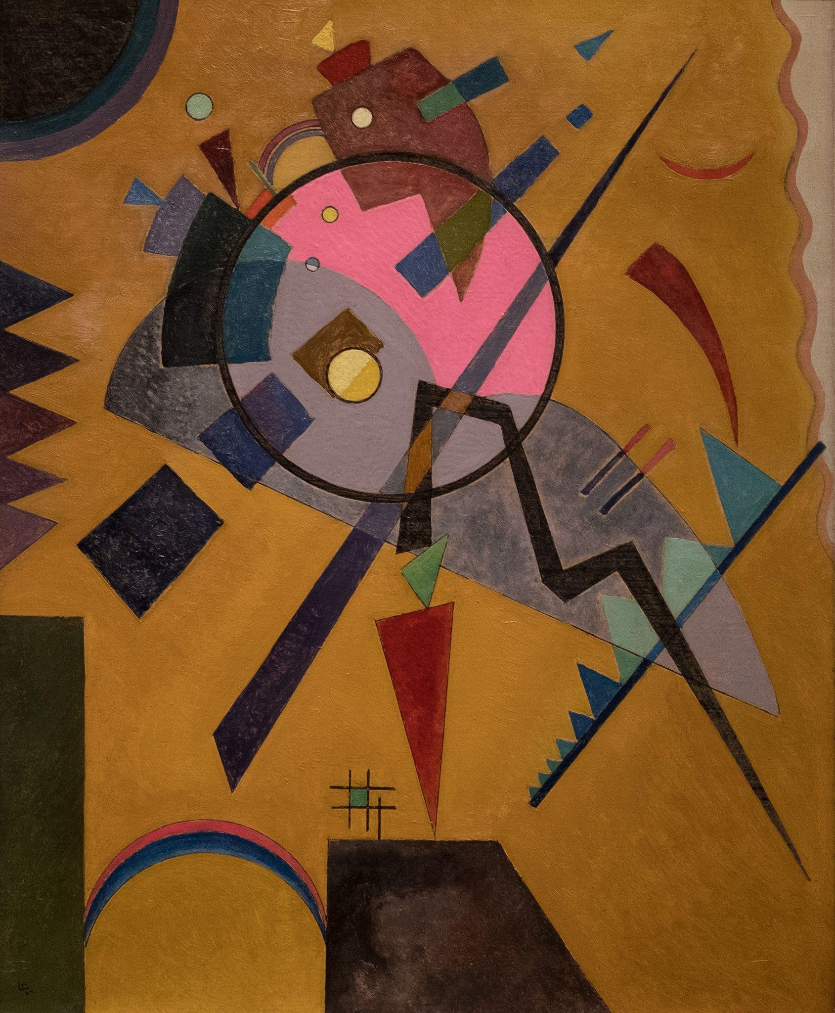 Vasily Kandinsky Rose With Gray 1924 Nelson Atkins