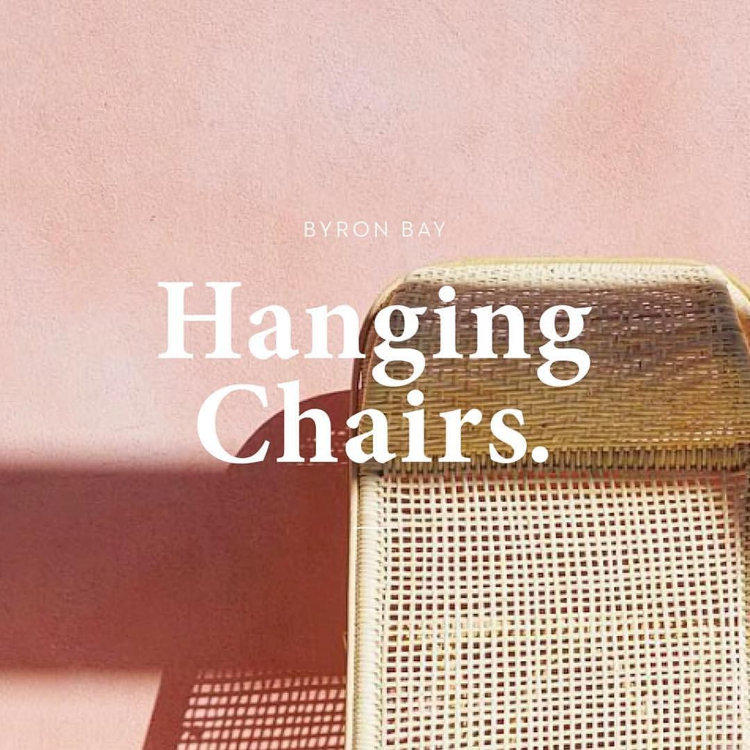 "163 Likes, 9 Comments - Kate Morgan (@katelouisemorgan) on Instagram: ""Recent logo design for @byronbayhangingchairs -- don't let the name fool you.. they have a…"""