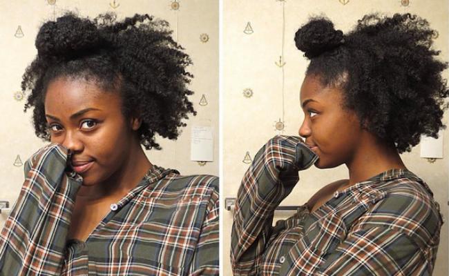 4c Ninja Bun Braid Out Tutorial 4c Natural Hair Natural Hair Styles Twist Hairstyles