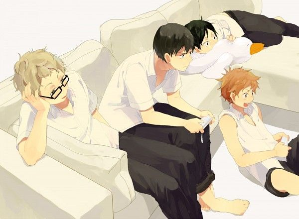 Hinata, Kageyama, Tsukishima, and Tadashi   Haikyuu   Haikyuu, Anime