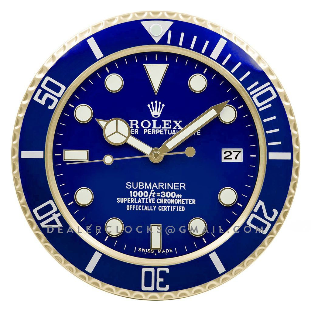 Rolex Submariner Gold Wall Clock Rx207 Rolex Rolex Submariner Gold Gold Wall Clock