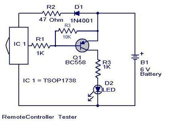remote control tester circuit free electronics circuitsremote control tester circuit