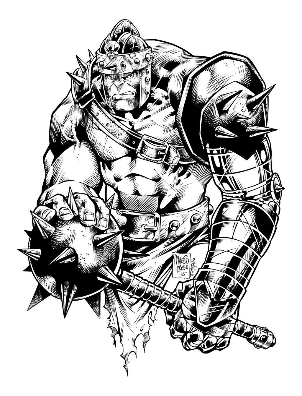 Hulk Medieval Ink By Marcioabreu7 Deviantart Com On Deviantart
