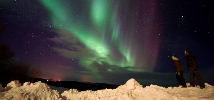 ver la aurora boreal en laponia