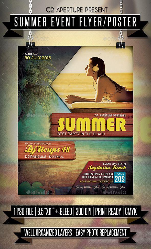summer event flyer poster event flyers event flyer templates