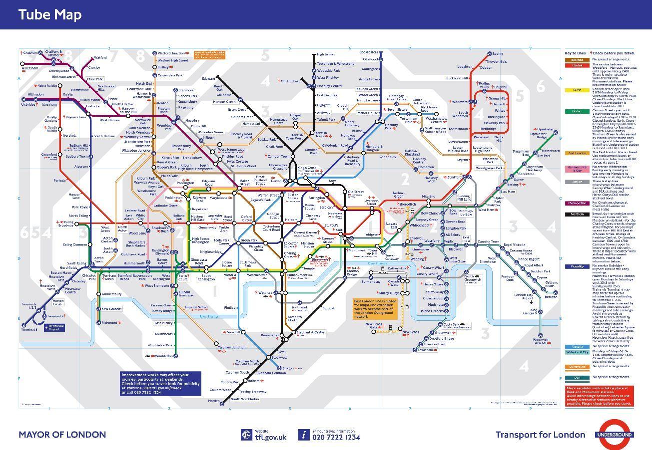 london underground map httpwwwtflgovuk