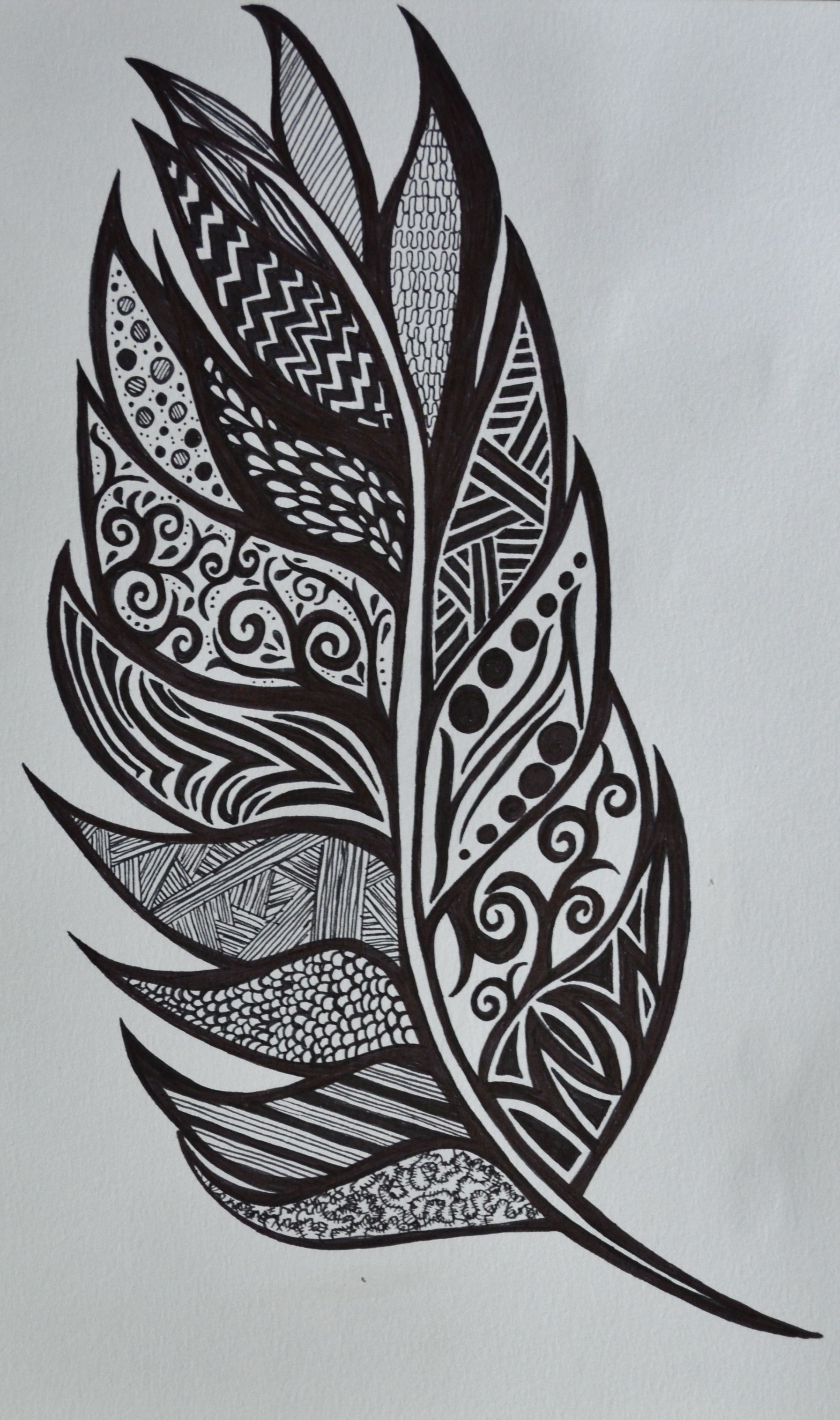 Feather - Sharpies Sf Drawing Sharpie Art Doodle