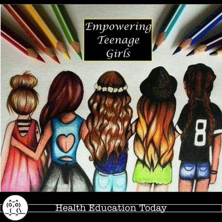 Get This Empowering Teenage Girls Newsletter Free Drawings Of Friends Best Friend Drawings Bff Drawings