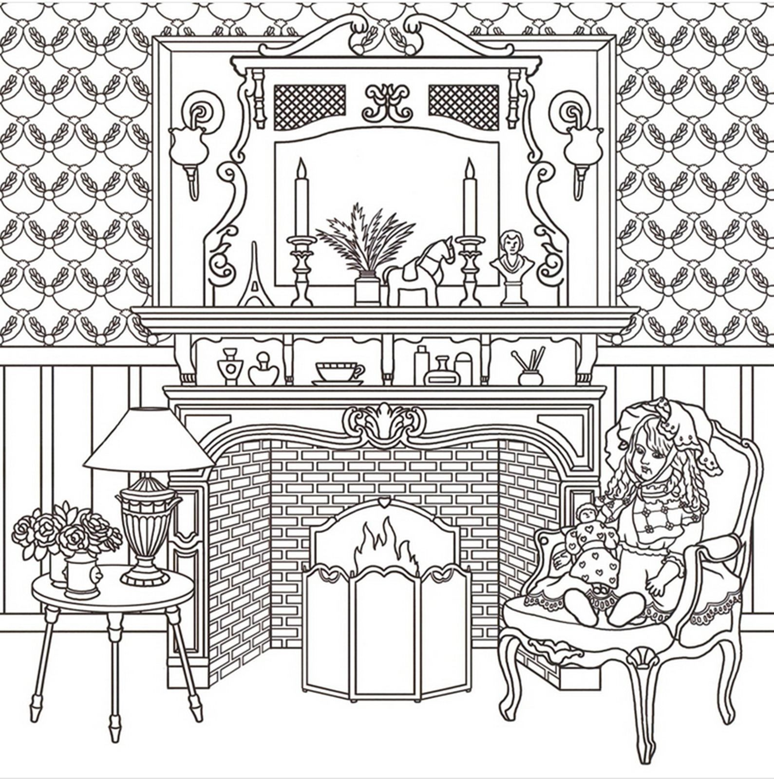 Welcome To The Doll House Coloring Book Anti Stress Art Therapy Charlotte Adult