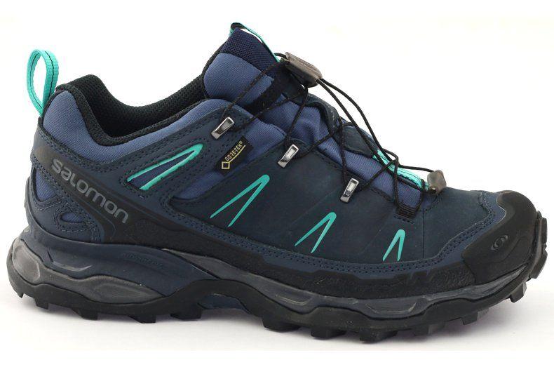 Buty Trekkingowe Salomon X Ultra Ltr Gtx Granatowe Niebieskie Boots Hoka Running Shoes Hiking Boots