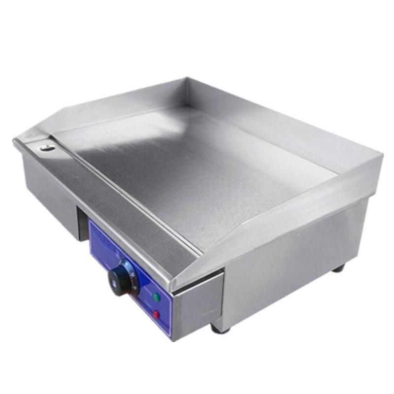 Electric Griddle Commercial 3000w Flat Pan Griddles 220v Stainless Steel Restaurant Frying Equipment Electric Griddle Steel Restaurant Electricity
