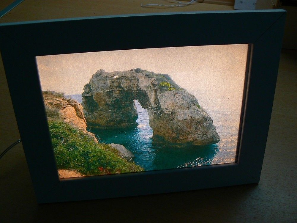 Let There Be Light Backlit Photo Frame Diy Photo Frames Photo Frame Frame
