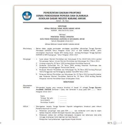 Contoh Surat Lamaran Guru Honorer Ke Dinas Pendidikan ...