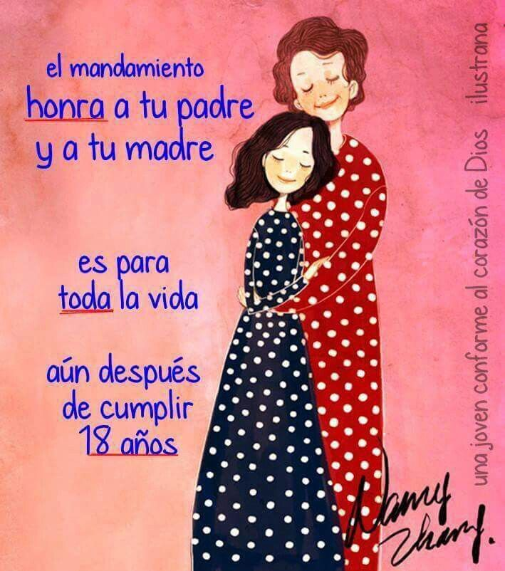 Cuarto mandamiento | I love mom, Christian quotes, Cool words