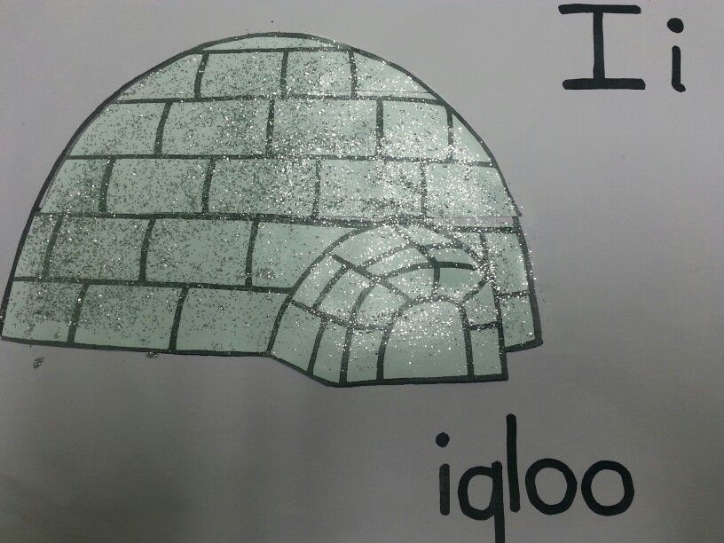 i... is for igloo Phonics, Crafts, 4 year olds