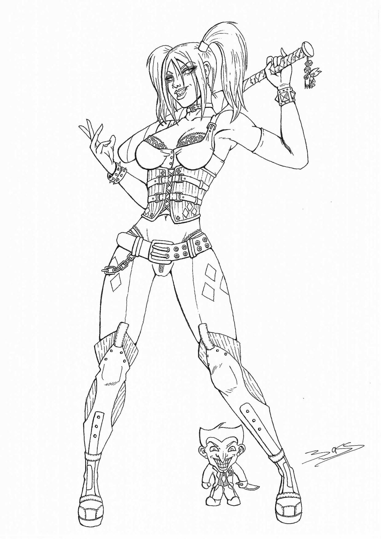 Coloriage Harley Quinn Coloriage Enfant Harley Quinn Beau Of