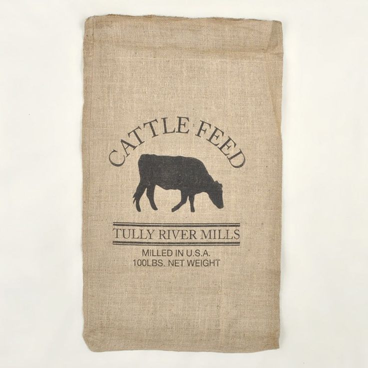 feed sack images | Cattle Feed Sack (Reproduction). Might make cool dog bed + decorative ...