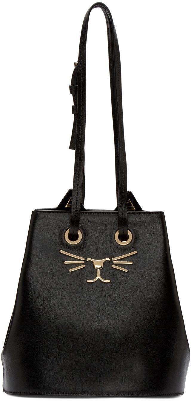 Charlotte Olympia - Black Feline Bucket Bag  8ec456ceb2233