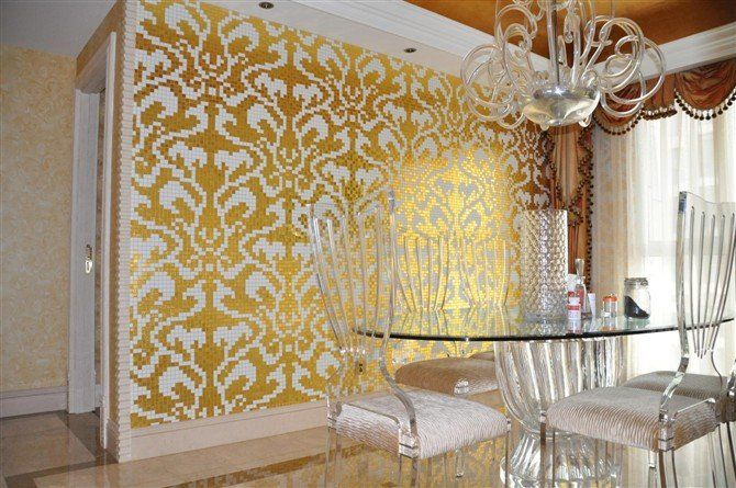 Image detail for -... gold mosaic silver mosaic Bisazza mosaic glass ...