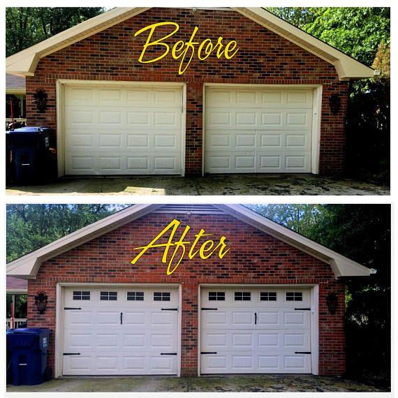 Craftsman Style Faux  Garage Door Windows  Vinyl Decals