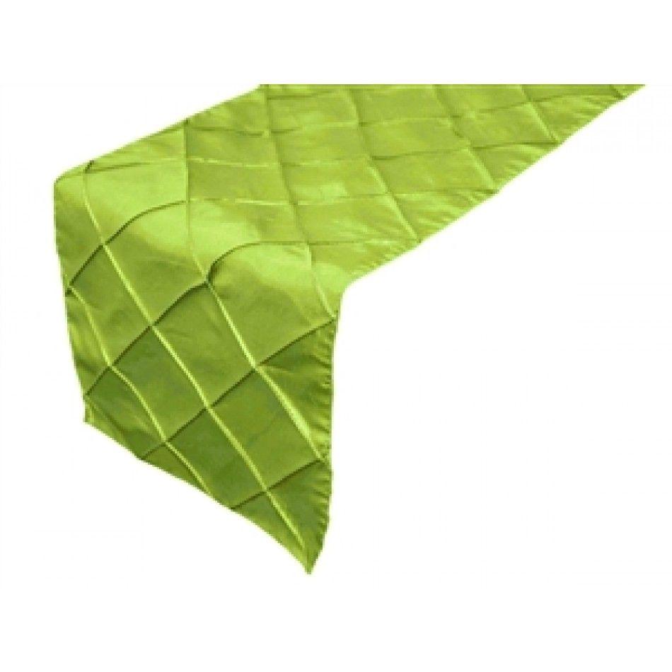 New Taffeta Pintuck Table Runner Sage Green Ef Buy