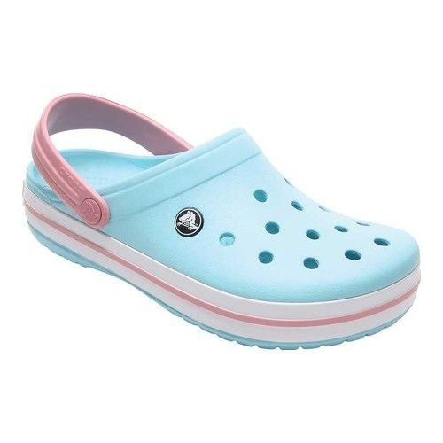 fafb85aced573 Crocs Crocband - Ice Blue/White Clogs in 2019 | Products | Crocs ...
