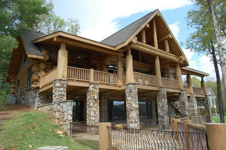 Stone And Wood House Stone House Plans House In The Woods Stone Houses