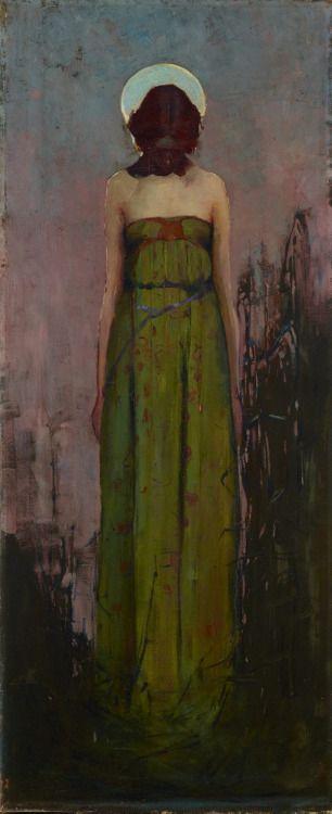 Sydney Long, Sadder Than A Single Star, 1899 Oil on Canvas