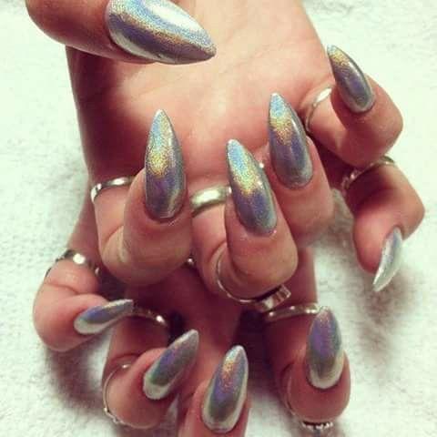 Uñas efecto #Espejo Lucen increíblemente hermosas #VM Nails