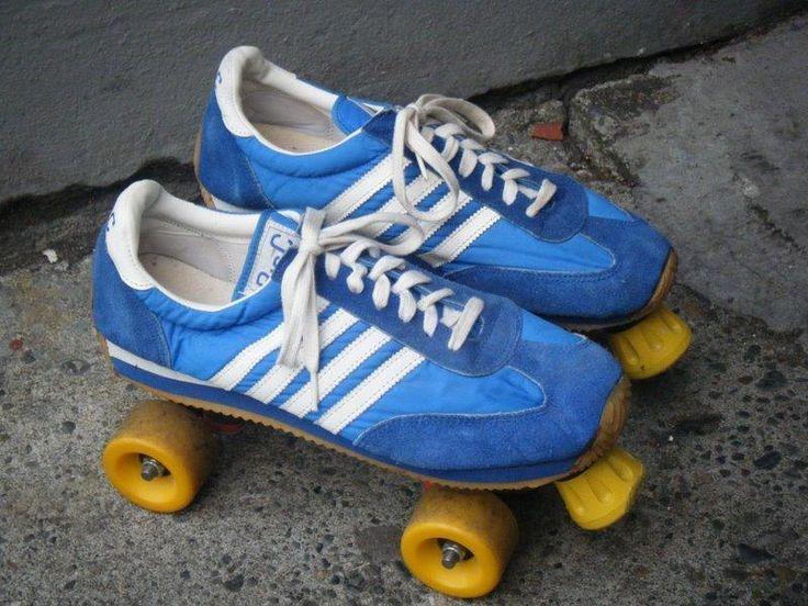 70 S Suede Tennis Shoe Roller Skates Childhood Pinterest