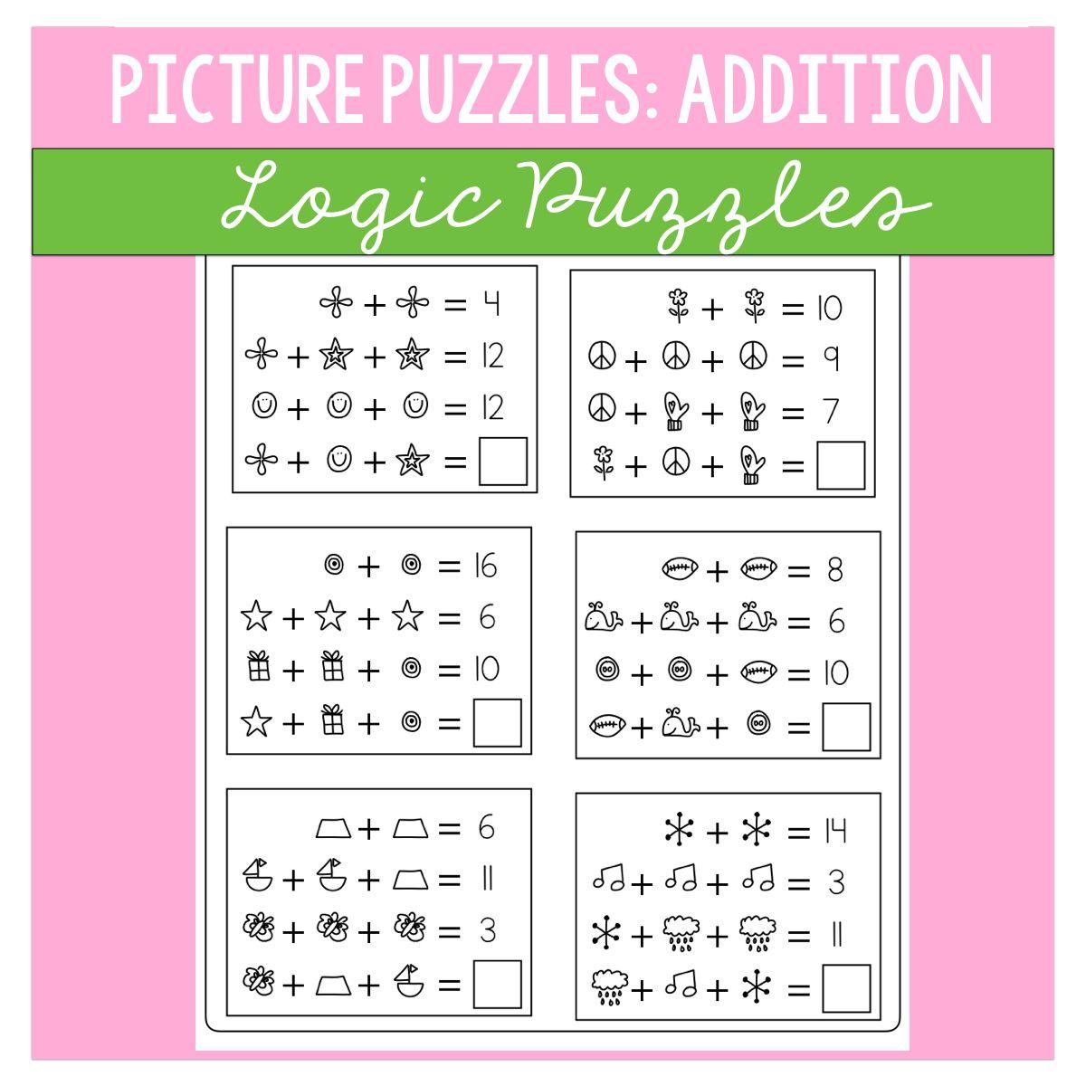 Math Logic Puzzles Addition Volume 1