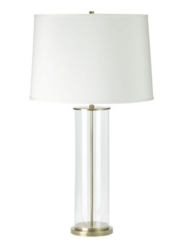 Payton Glass Cylinder Lamp   Lauren Home Table Lamps   RalphLauren.com I  Would Put A Black Shade On This