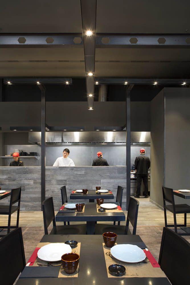 Cocina abierta del restaurante umo by estudi josep cortina quioscos umo gruponomo - Restaurante umo barcelona ...