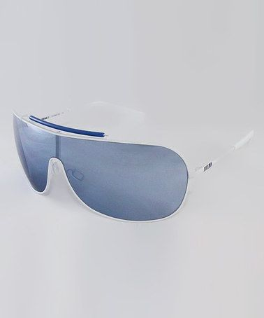 White & Gray Vintage 95 Sunglasses
