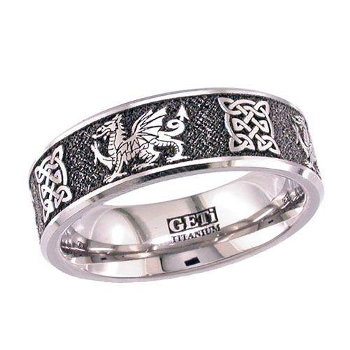 Dragon Wedding Rings Welsh Dragon Celtic Knot Titanium Wedding Ring Rings For Men Celtic Wedding Rings Titanium Wedding Rings