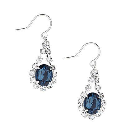 ec2a6d6d2 Cezanne Oval Rhinestone Drop Earrings #Dillards #prom earrings #$16.00