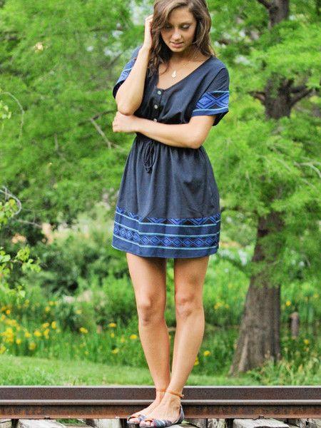 Diamond Drawstring Dress | shopgracieb.com #dress #drawstring #summer