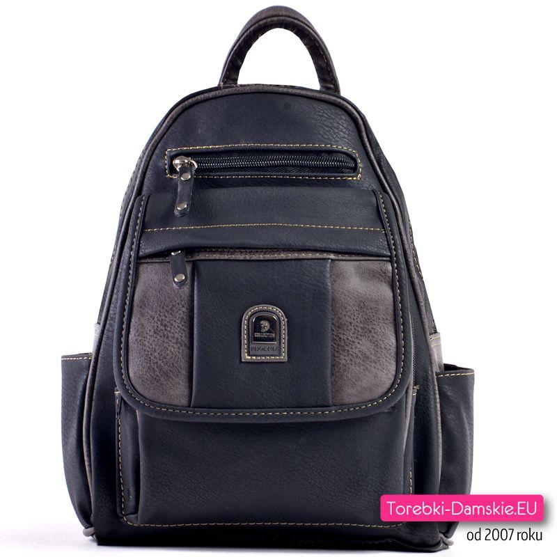 38601b9b47638 Miejski plecak damski z wieloma kieszeniami zewnętrznymi