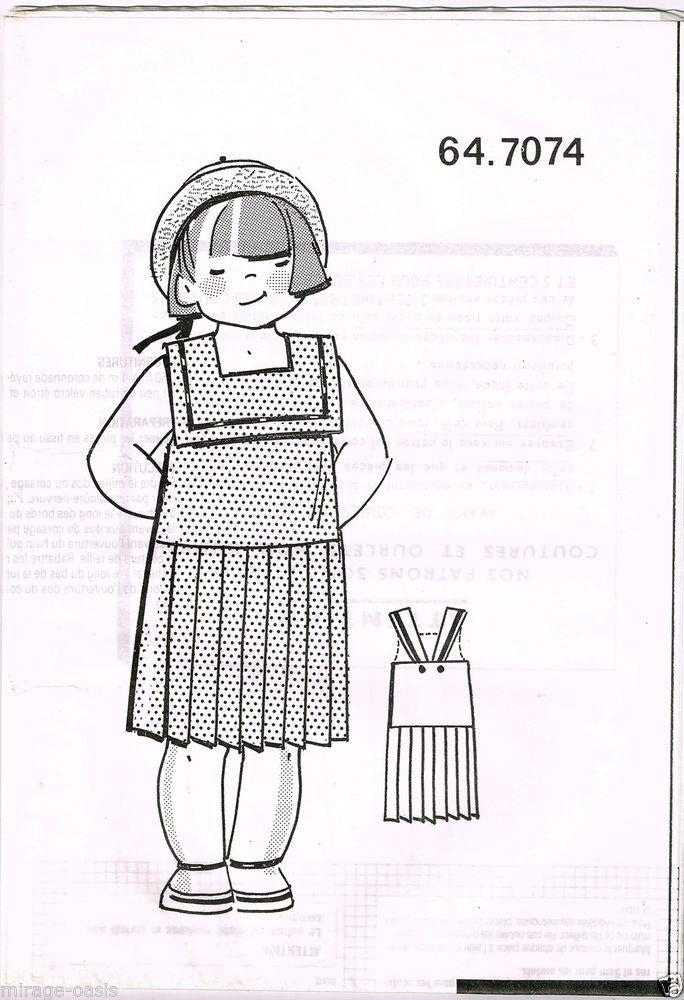 Robe fin piqué à pois. T4 à 8ans.Modes&Travaux Mai 1990,Vintage Neuf non découpé in Loisirs créatifs, Couture, broderie, tricot, Accessoires de mercerie | eBay