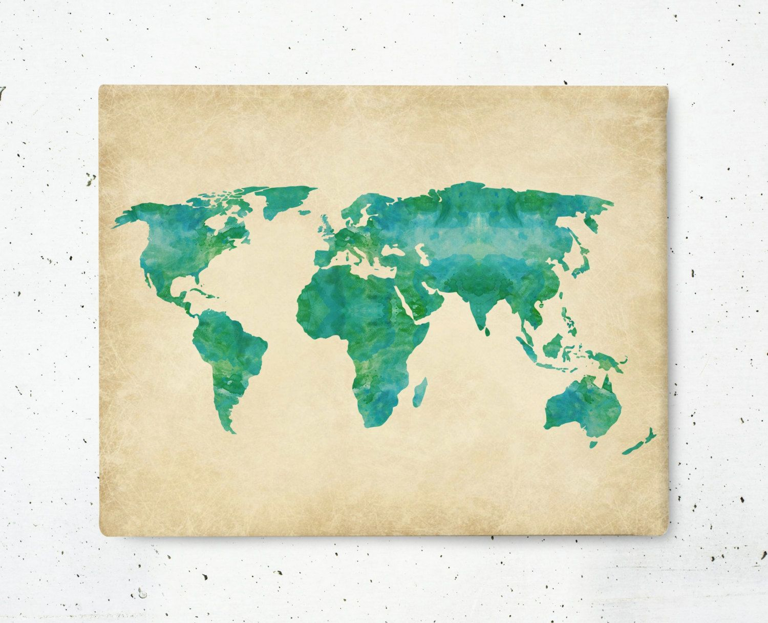 New to bysamantha on etsy watercolor world map canvas print new to bysamantha on etsy watercolor world map canvas print stretched canvas wall art publicscrutiny Choice Image