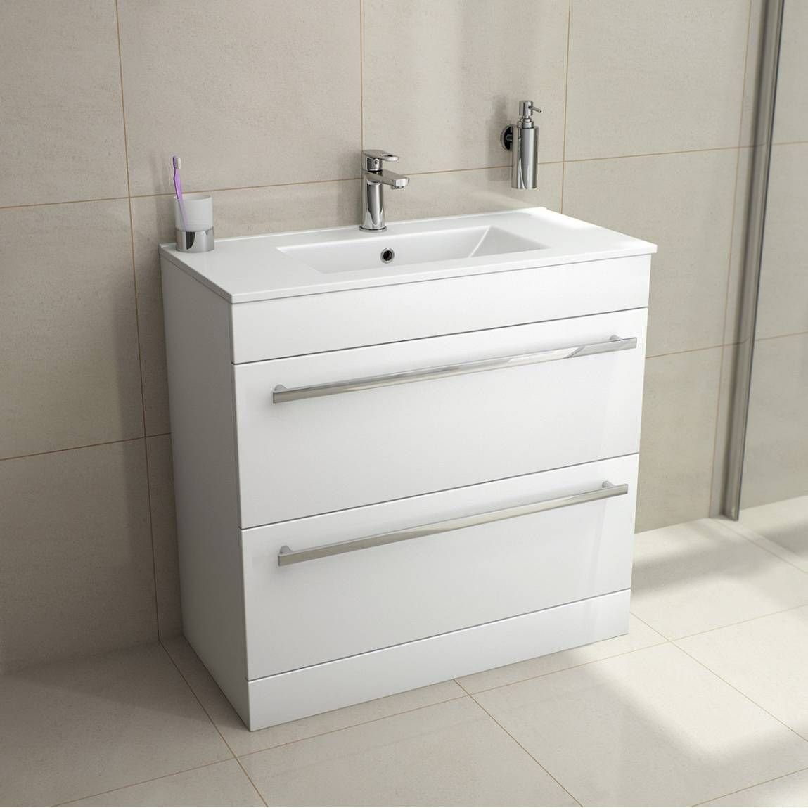 The Odessa White Bathroom Furniture range is fully modular and