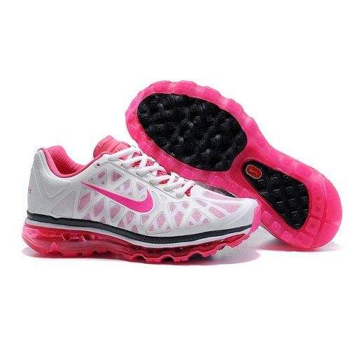 f5ba9a6a80e Fitted Nike Air Max 2011 Mesh White Stealth Pink-Black Women Running Shoes  1019  68.77