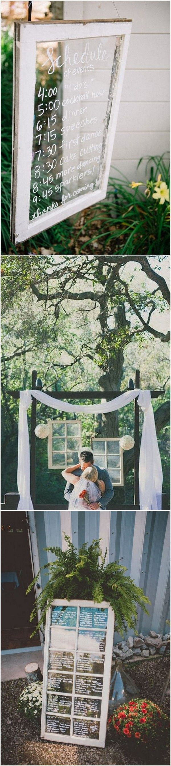 Diy vintage wedding decoration ideas   DIY Wedding Decoration Ideas with Vintage Windows  Page  of
