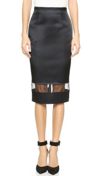 Nicholas Techno Duchesse Sheer Skirt